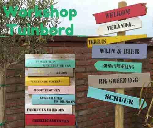 workshop tuin wegwijzer maken