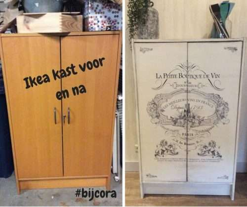 ikea kast pimpen met rub on transfer