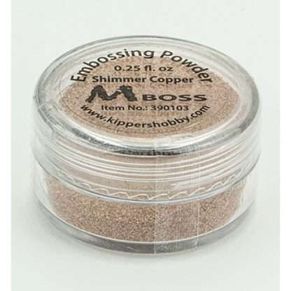 Mboss embossing powder shimmer copper