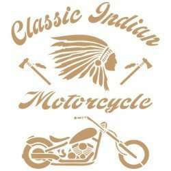 Stencil indian / motorcycle 30 x 30