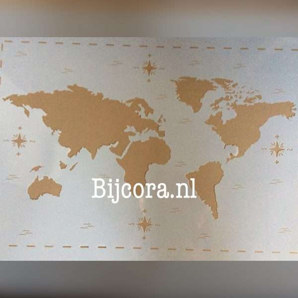 stencil wereldkaart 40 x 60
