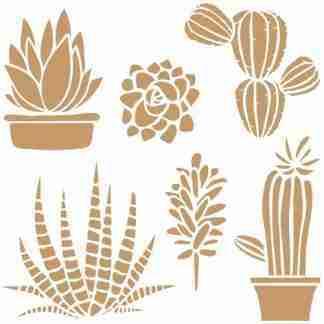 stencil cactus