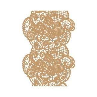 Background stencil lace / kant 30 x 45 cm