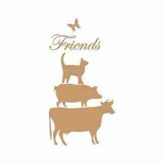 Stencil friends 30 x 45 cm