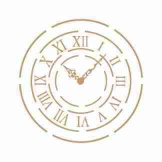 Stencil vintage clock 50 x 50 cm