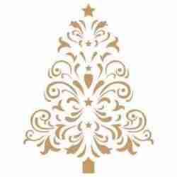 Stencil kerstboom met ster