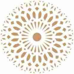 Stencil mandala damask 50 x 50 cm