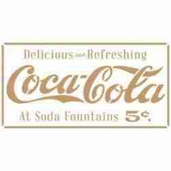 Stencil Vintage Cola - 40 x 60 cm