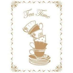 Stencil Tea time 40 x 60