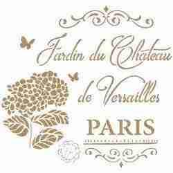 Stencil Jardin Du chateau 40 x 40