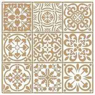 Stencil Tiles (2delig) 50 x 50