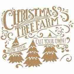 Stencil Christmas trees - 40 x 40