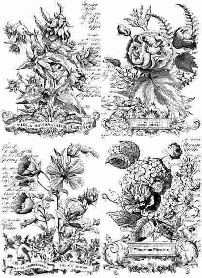 IOD transfer Classic bouquets