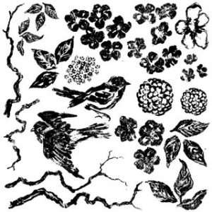 OD - Decor Stempel Birds Branches Blossoms