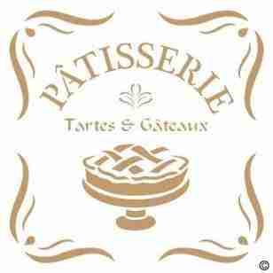 Stencil Patisserie 40 x 40 cm