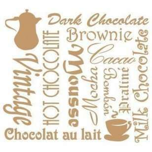 Stencil vintage chocolate 40 x 40 cm