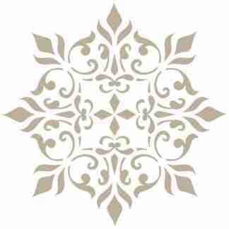 Stencil damask 036 - 30 x 30