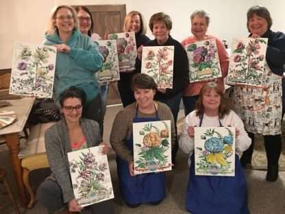 IOD paintable transfers workshop