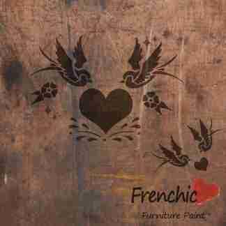 Stencil Swallows in love