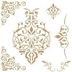 Stencil -damask-086