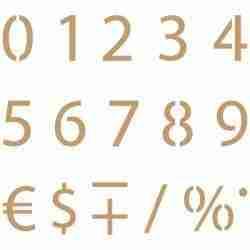 Stencil cijfers 003 - 3,7 cm hoog