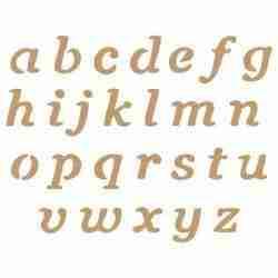 Stencil alfabet - 3,4 cm hoog