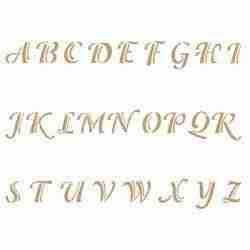 Stencil alfabet -letters 5,2 hoog