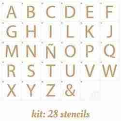 Losse letter sjablonen 5,5 cm hoog