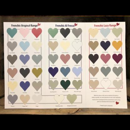Frenchic kleurenkaart