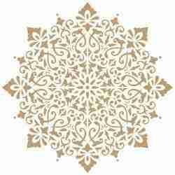 Stencil Mandala damask
