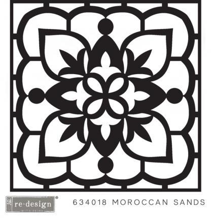 3D stencil Moroccan sands ( reliëf voor betontegel)