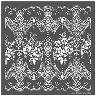 Redesign 3D stencil Distressed lace