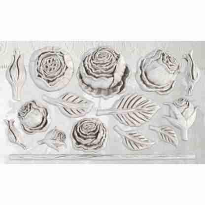 Heirloom roses - IOD ornament mal