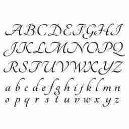 Stencil alfabet - 21 x 29