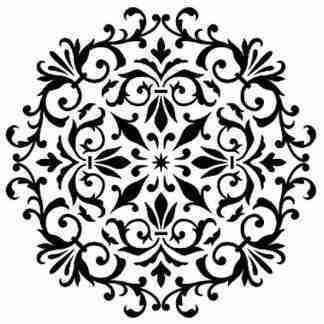 Stencil Barok mandala 30 x 30