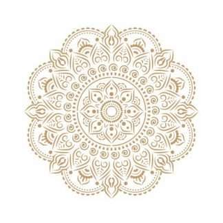 Mandala stencil Adamasco 90 - 50 x 50