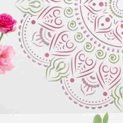 Mandala stencil Roseton - 70 x 70
