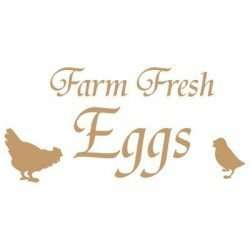 Stencil Farm fresh eggs 40 x 40