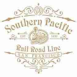 Stencil Southern Pacific 25 x 25