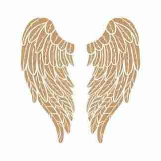 Stencil engelenvleugels