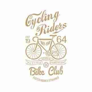 Stencil fietsclub - 30 x 45