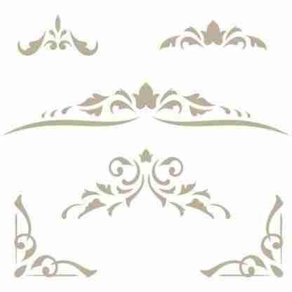 Stencil mini damask 38 - 24 x 24