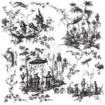 IOD stempel Toile Chinoiserie