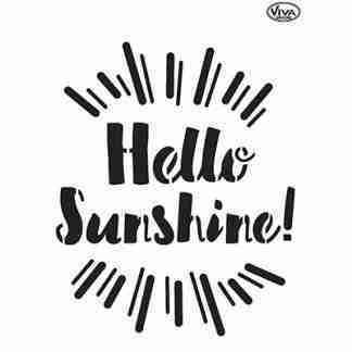Hello Sunshine stencil - A5