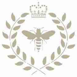 Stencil Bij met kroon 25 x 25
