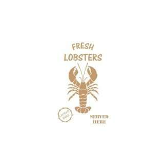 Stencil Fresh Lobsters