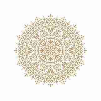 Stencil Mandala 092 - 50 x 50