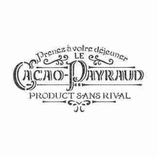 Stencil Studio Cacao Payraud vintage A4
