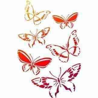 Stencil vlinders A4