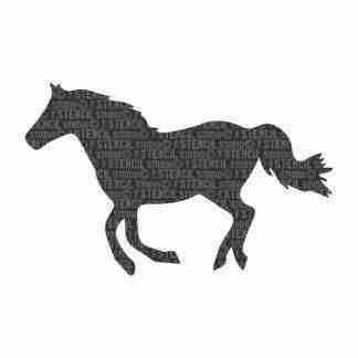 StencilStudio- stencil paard A5